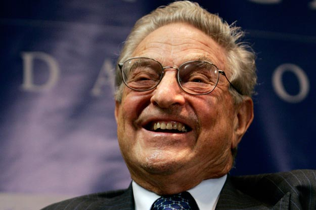 """George Soros, Chairman of the Open Society Institute, smiles at a forum sponsored by the New America Foundation in Washington September 13, 2006. Soros discussed """"the age of fallibility, the consequences of the war on terror"""".    REUTERS/Jason Reed  (UNITED STATES)"""