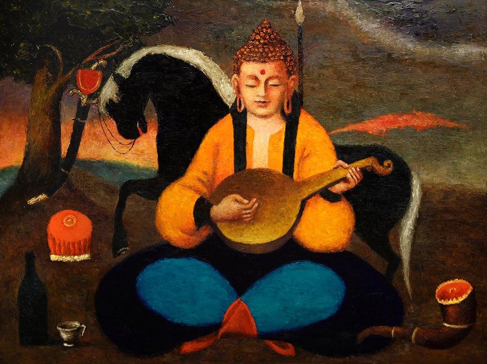 Одесский художник изобразил Будду в образе казака