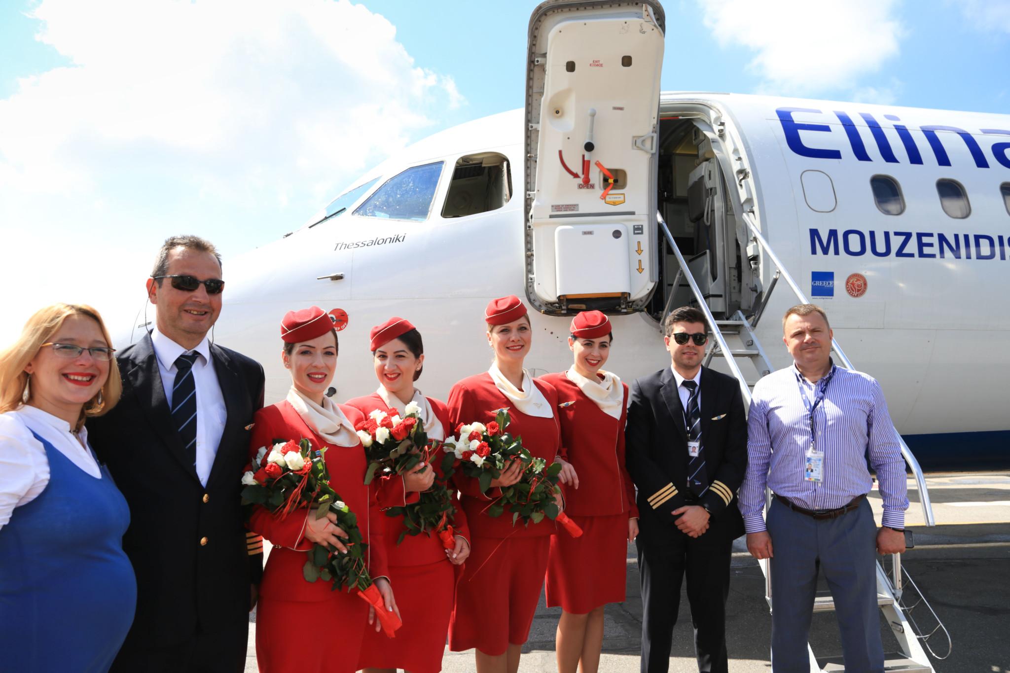 Два часа до Греции: в Одессе с танцами открыли летний авиарейс (фото)