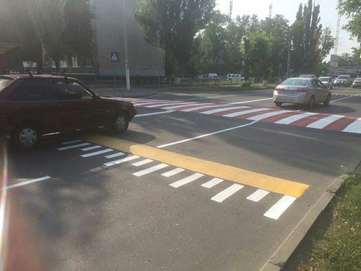 В Одессе создали «первый в Украине правильный пешеходный переход» (фото)