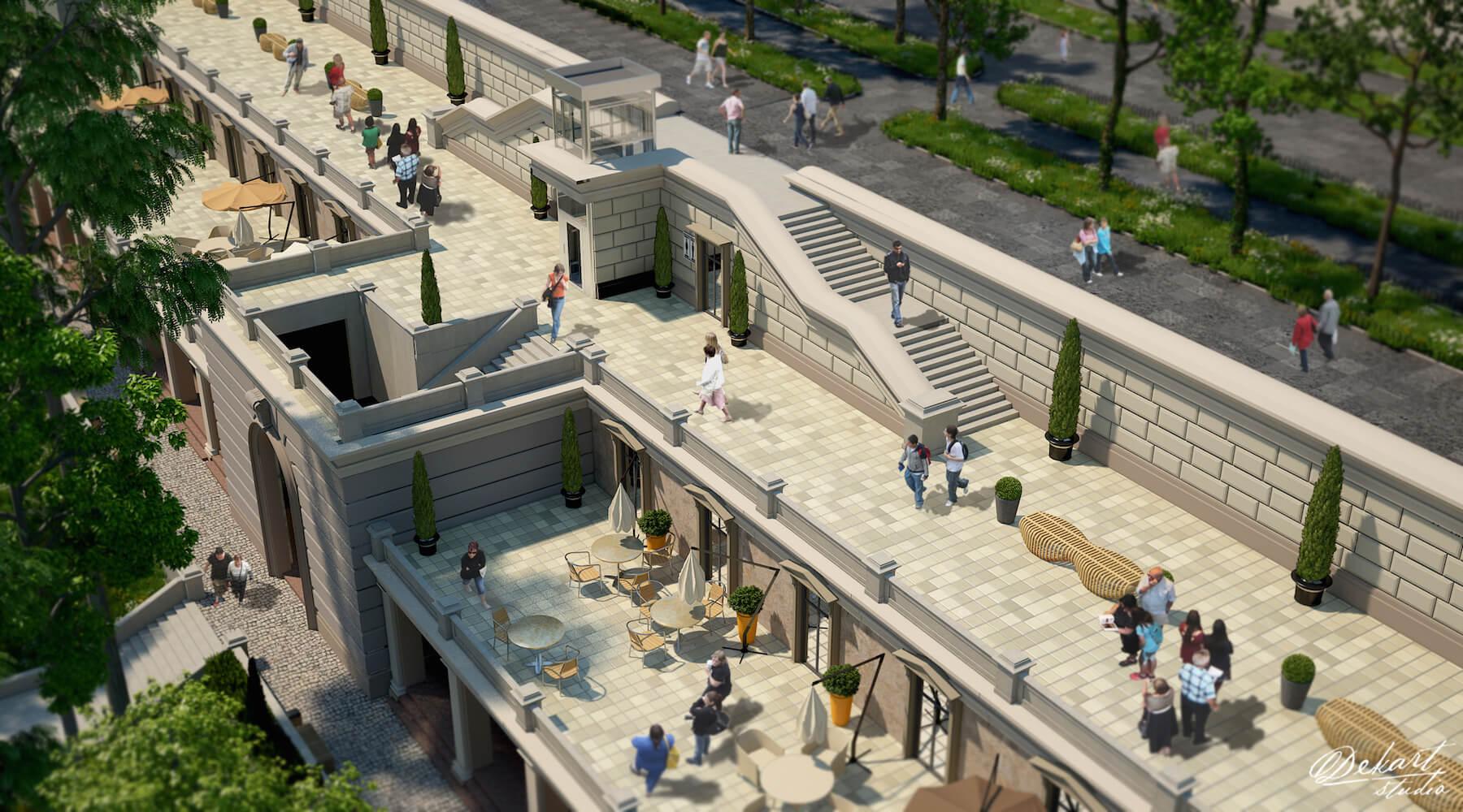Под одесским Приморским бульваром планируют создать роскошный Греческий парк с фонтанами, лифтами и террасами (фото)