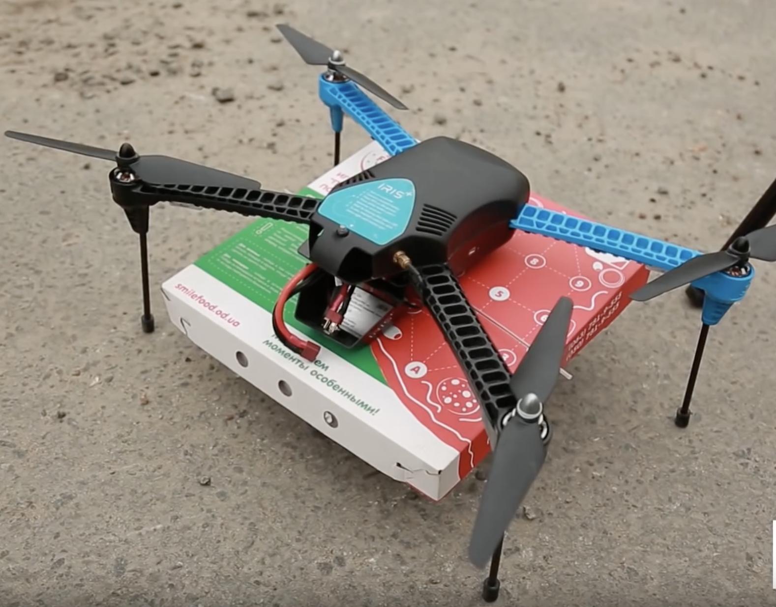 В Одессе дрон впервые доставил пиццу