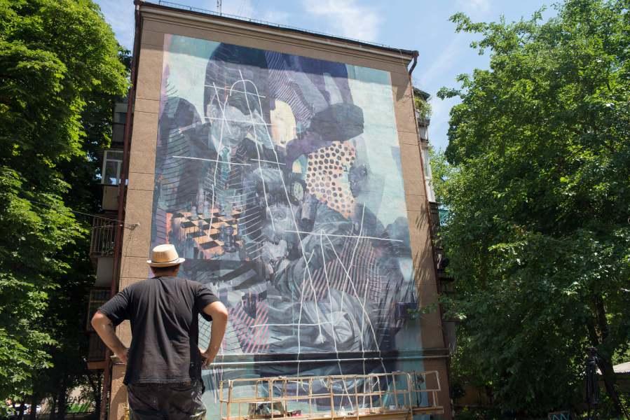 «Долгая Партия» Одесса, ул. Отрадная 9, Марат 'Morik' Данилян (Россия) Проект Mural Social Club