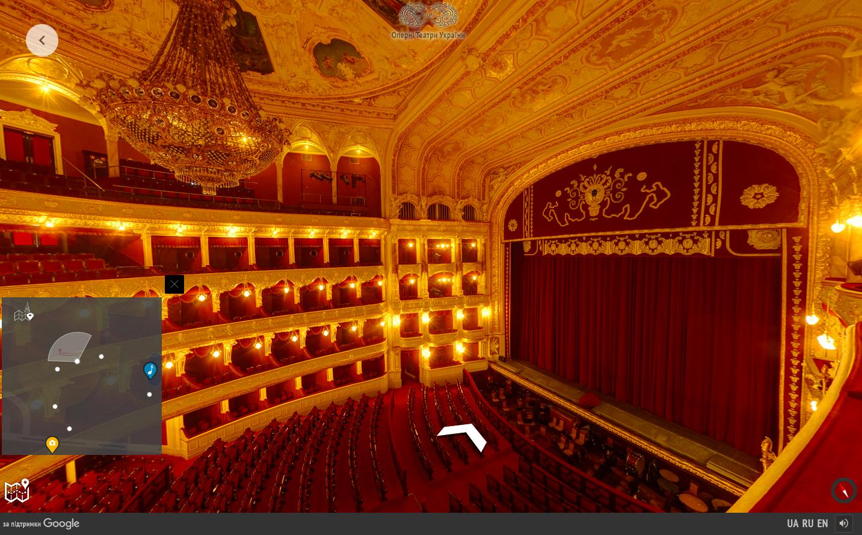 В Google создали виртуальный 3D-тур по Одесскому оперному театру