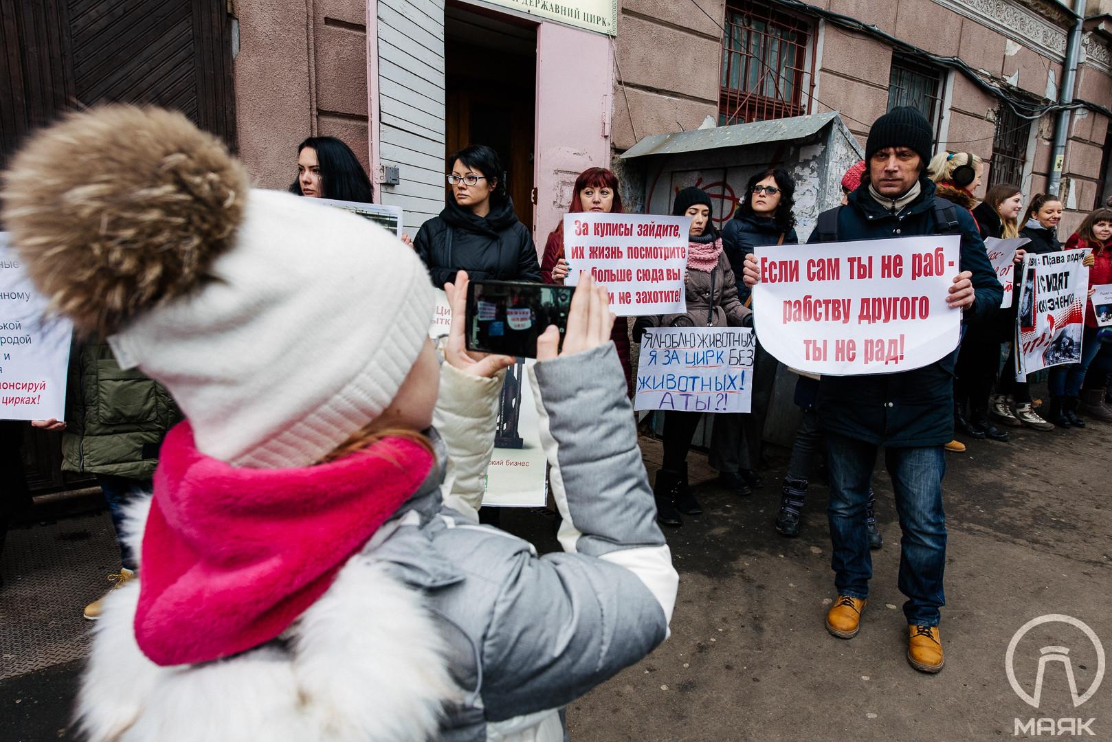 В Одессе зоозащитники выступили против использования животных в цирке