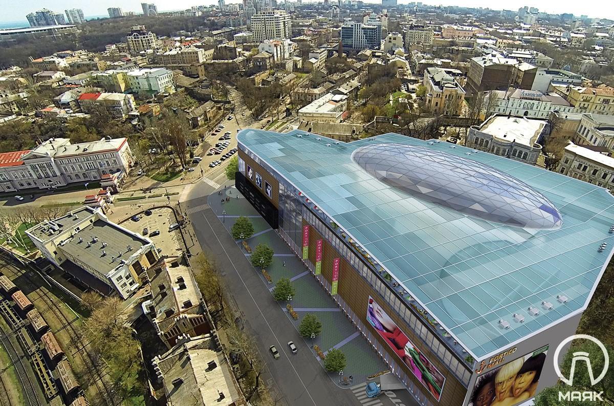 На склоне под мэрией построят многоэтажный ТРЦ — подготовлен новый проект