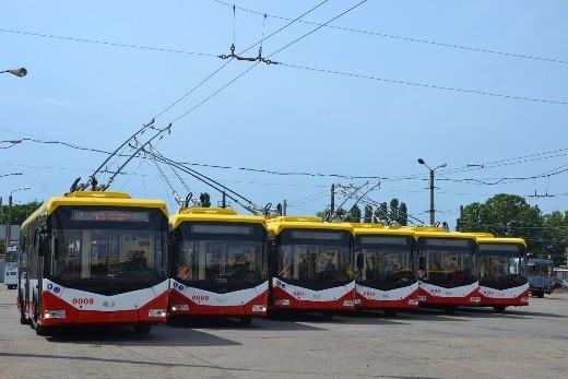 В Одессу доставили сразу 6 новых троллейбусов из Минска