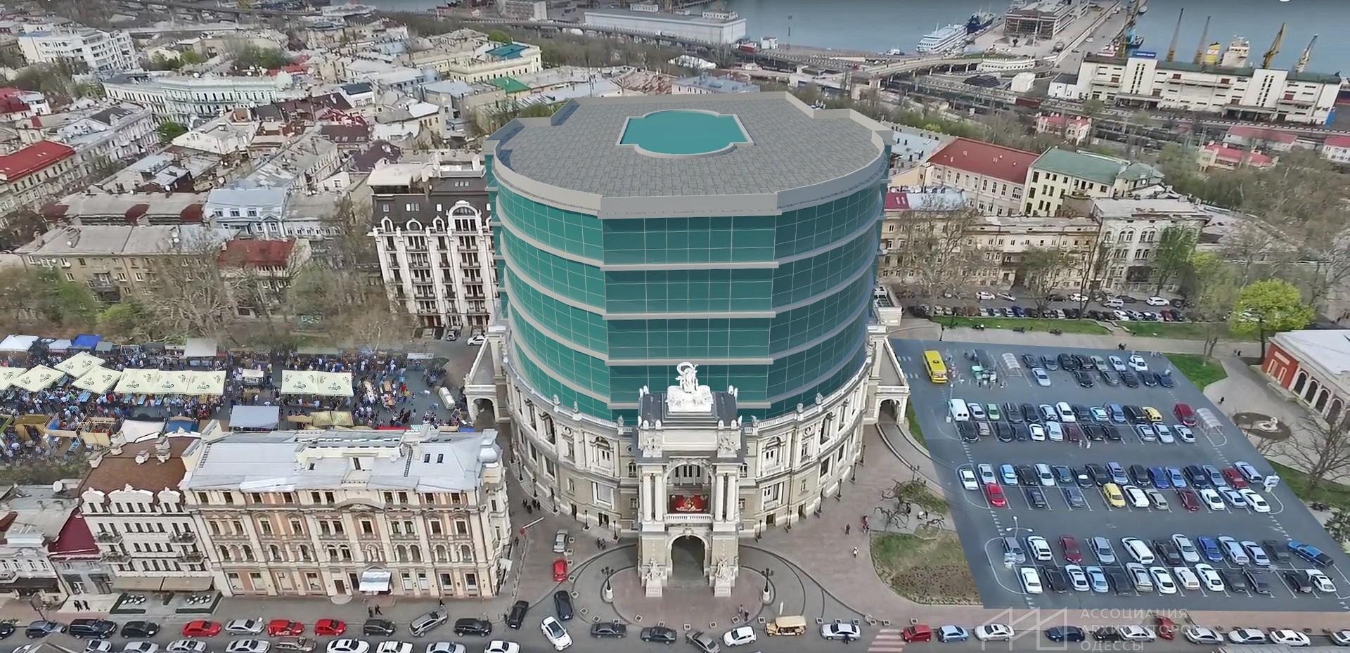 Архитекторы показали одесский Оперный театр после перестройки в торговый центр