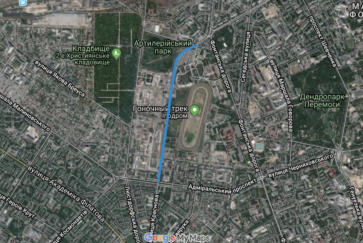 Мэрия Одессы объявила конкурс по обустройству велодорожки на части улицы Краснова