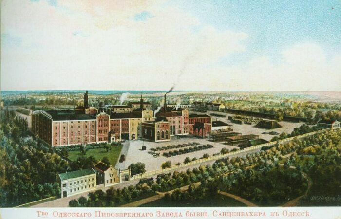 Открытка с изображением завода до 1917 года.