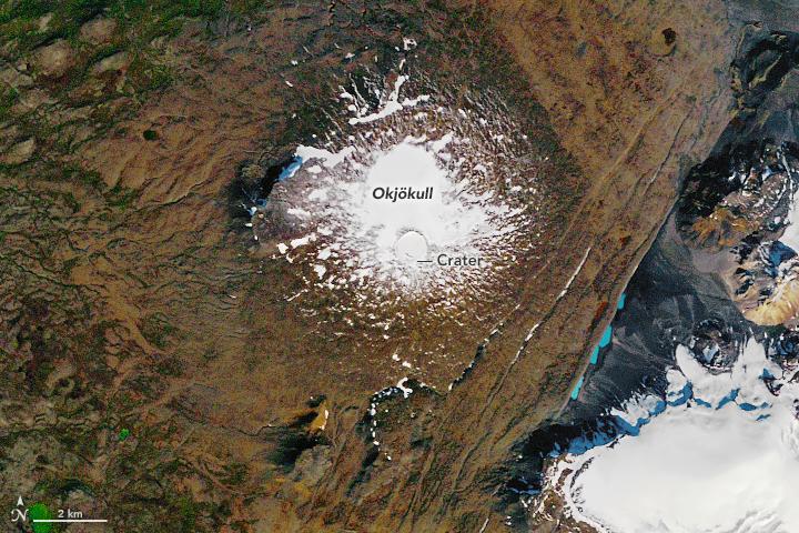Так ледник выглядел еще в 1986 году. Фото — NASA.
