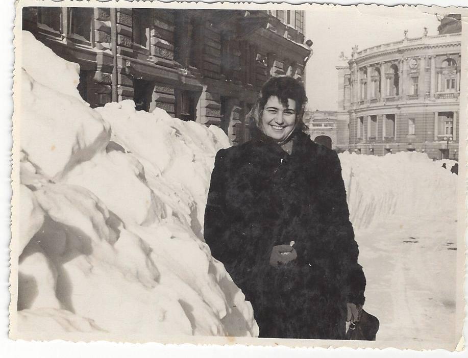 Снег в Одессе в 1957 году. Фото —Violetta Livshen