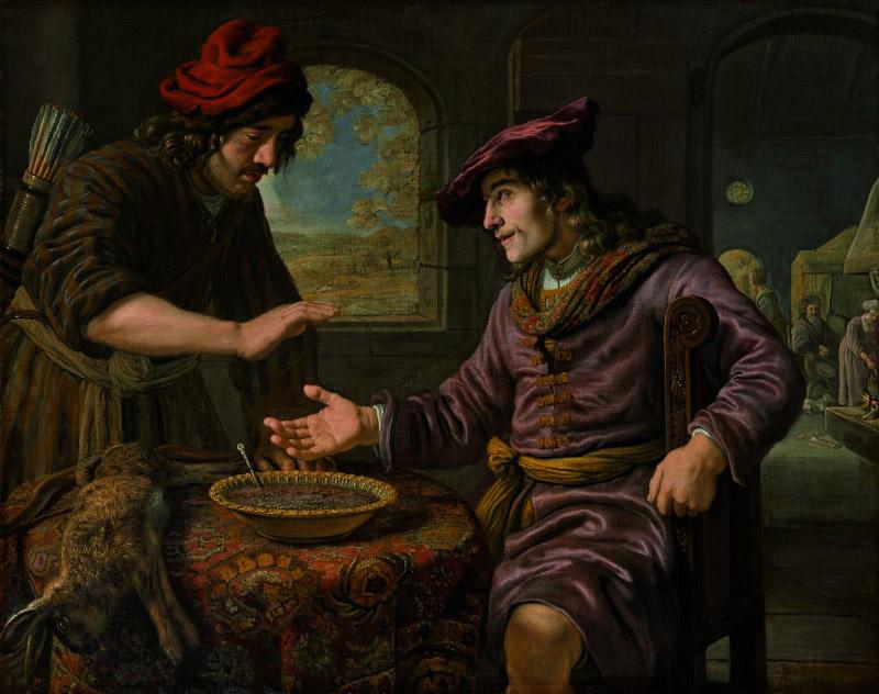 Ян Викторс, «Чечевичная похлебка», 1653 год.