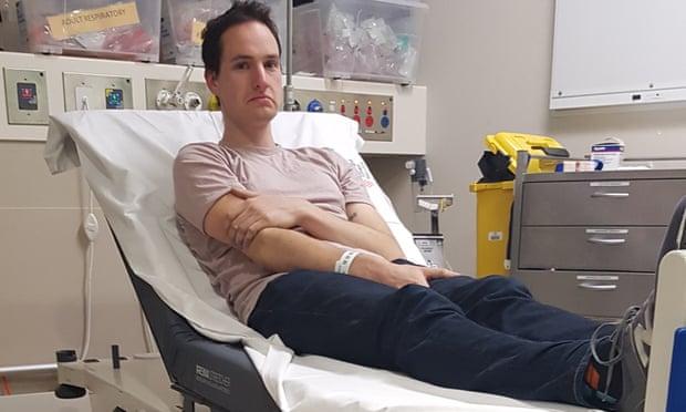 Дэниел Рирдон в больнице.