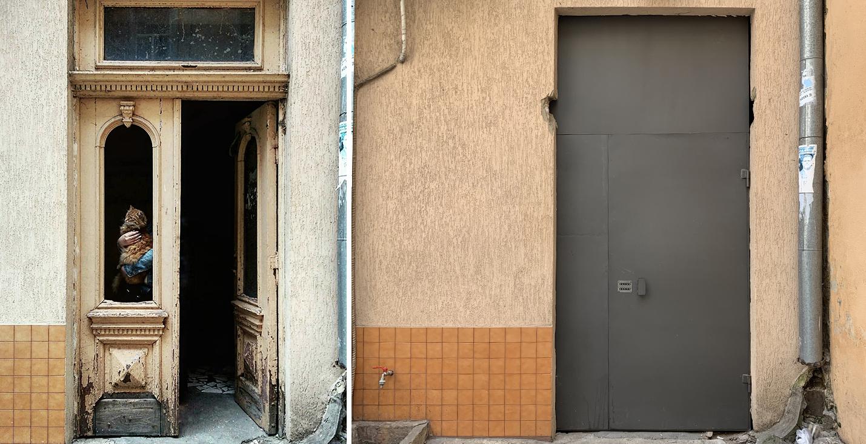 До и после замены двери.