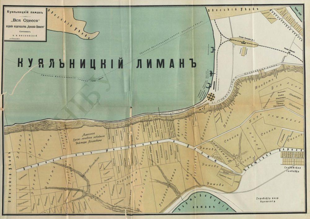 Количество частных земель и, соответственно, строений в 1910 году. Большинство из дач уничтожены.