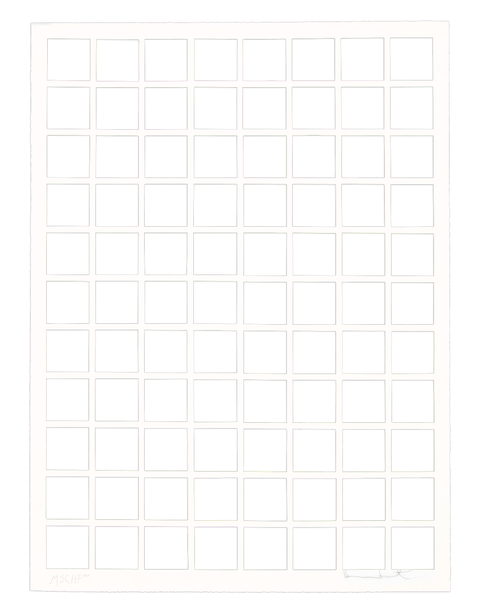 Остатки белой бумаги от работы Херста.
