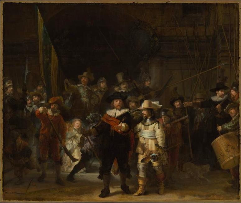 Картина Рембрандта «Ночной дозор».