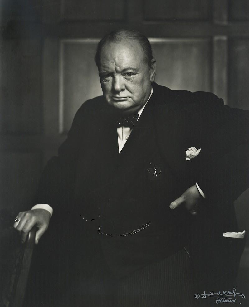 Фотопортрет Уинстона Черчилля. Юсуф Карш, 1954 год.