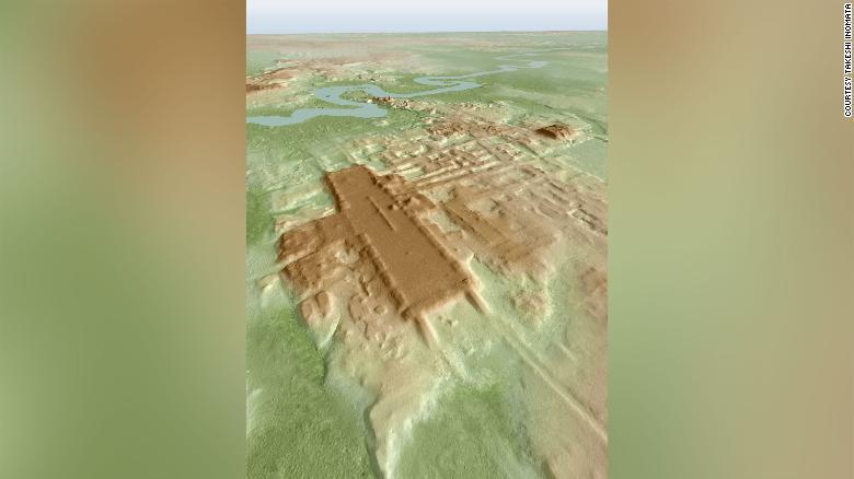 Трехмерное изображение обнаруженных фрагментов храма.