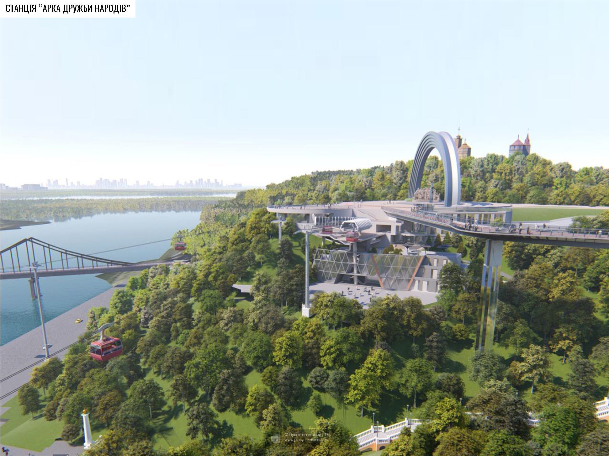 Визуализация проекта подвесной канатной дороги «Проектных систем ЛТД».