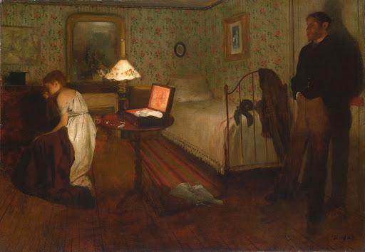 «Интерьер» («Изнасилование»). Эдгар Дега. 1868-1869 годы.