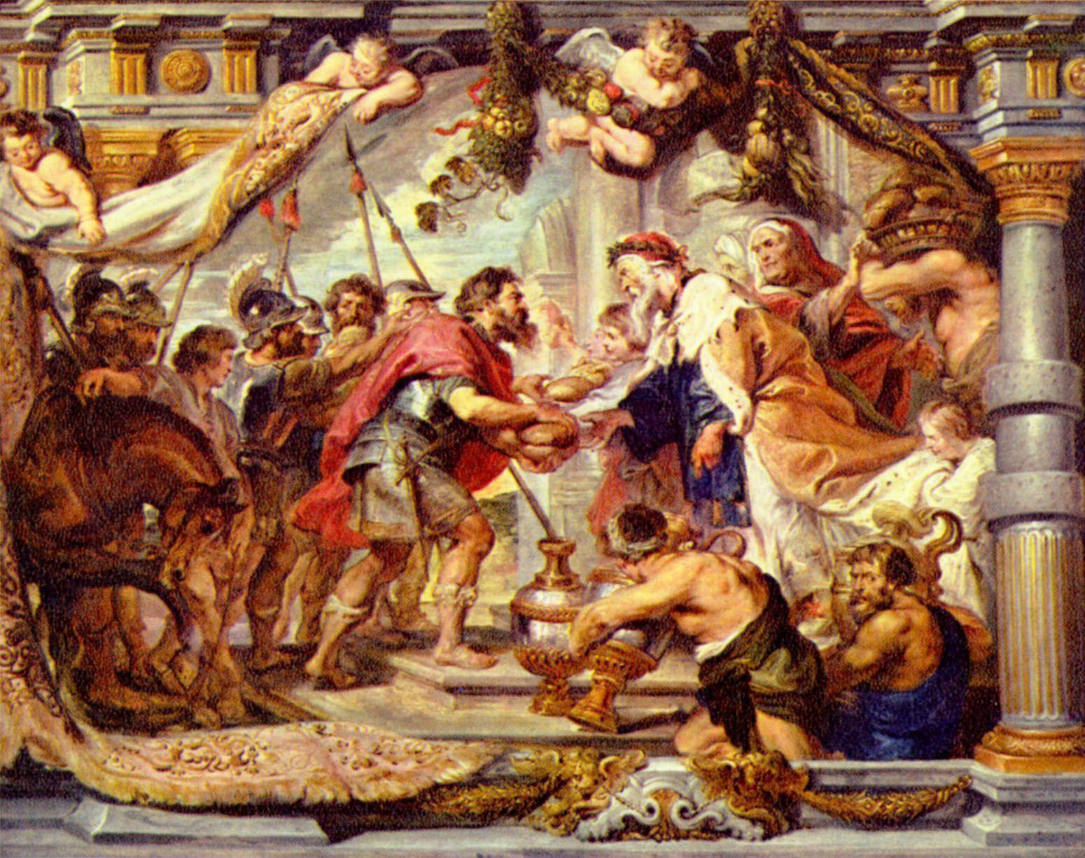 «Встреча Авраама и Мельхиседека», Рубенс. Эрмитаж.