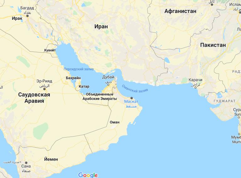 Снимок экрана — карты Google.