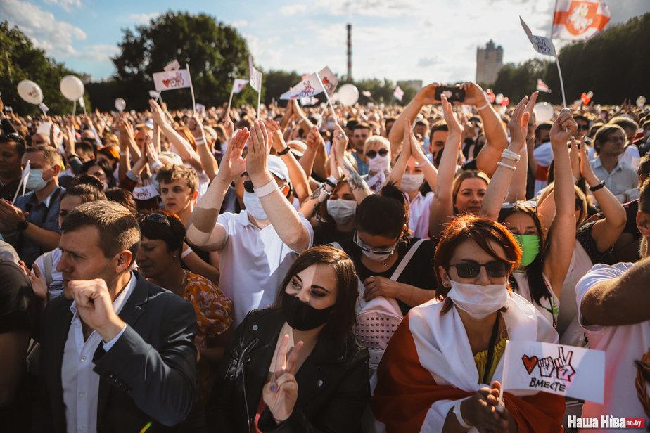 Митинг Тихановской. Фото —NN.BY