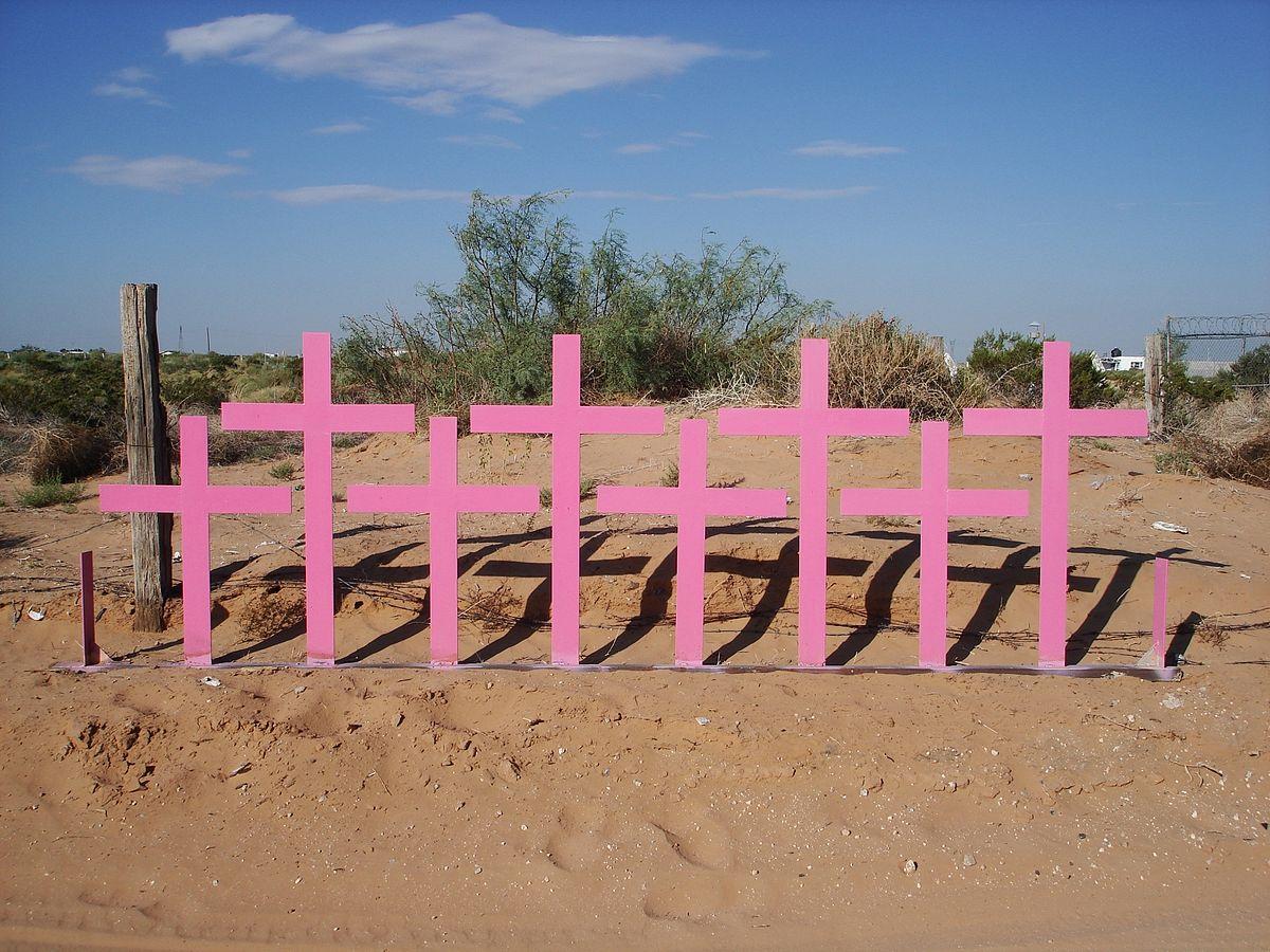 Кресты в Сьюдад-Хуаресе. Их воздвигли на месте убийства восьми женщин в 1996 году. Фото — Wikipedia.