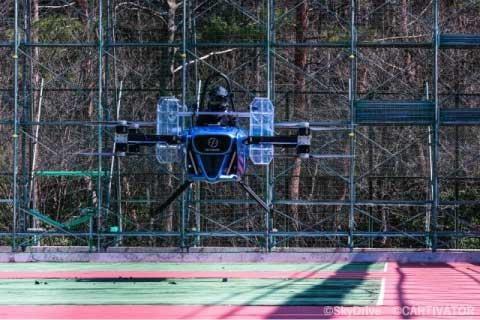 Испытания первого летающего автомобиля.