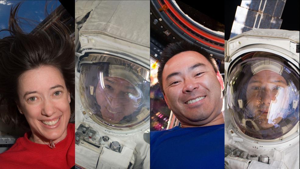 Члены миссии SpaceX Crew-2 на Международной космической станции. На снимке слева направо: Меган Макартур (NASA), Шейн Кимбро (NASA), Акихико Хошиде (JAXA) и Томас Песке (ЕКА).