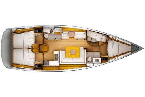 СХЕМА яхты Sun Odyssey 43