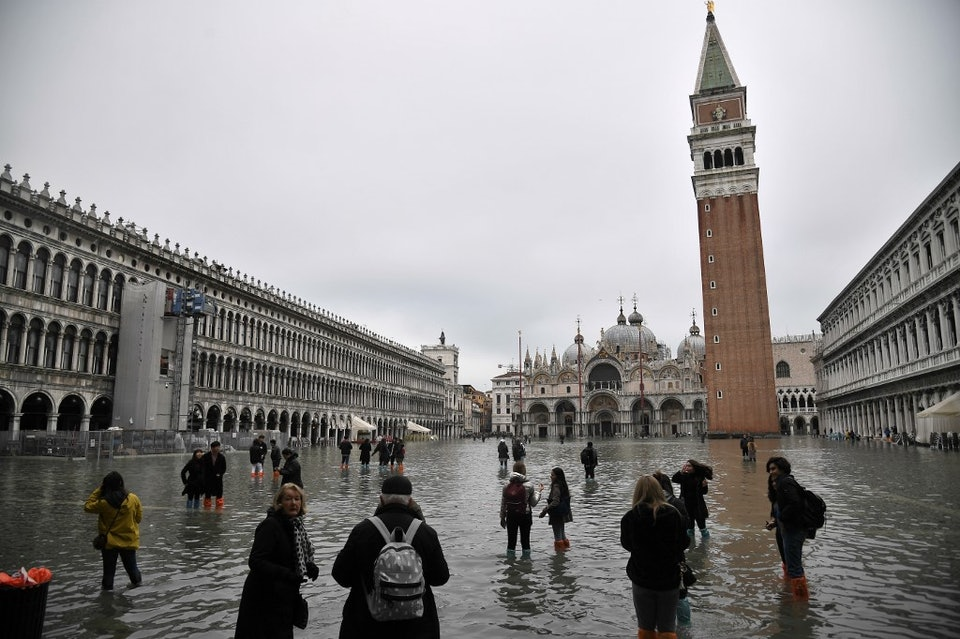 Венеция во время наводнения в 2019 году. Фото — Marco Bertorello/AFP/East News.