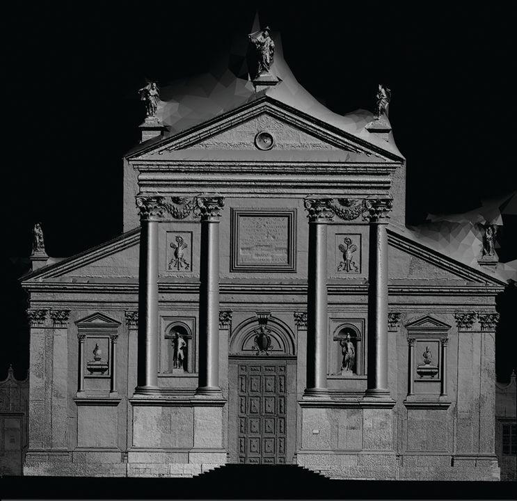 Фасад церкви Палладио на острове Сан-Джорджио. Снимок — Fondazione Giorgio Cini.