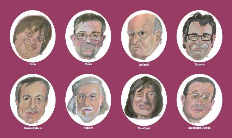 Погибшие сотрудники Charlie Hebdo.