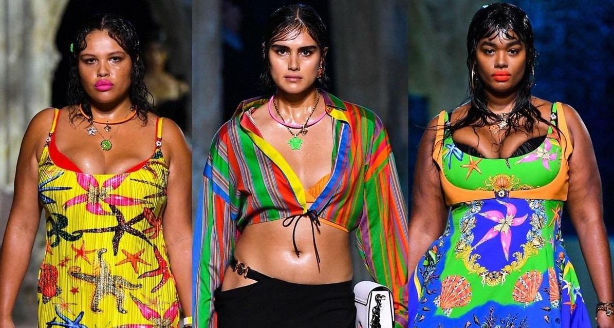 Versace впервые провел показ с моделями плюс-сайз