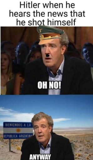 Гитлер, когда узнает о том, что он застрелится.