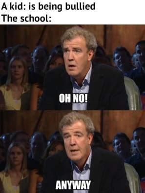 Ребенок: Меня травят! Школа: О, нет! А впрочем…