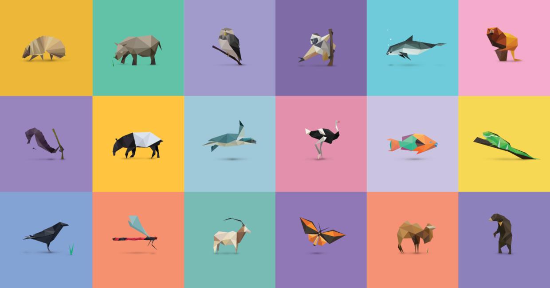 Ссылка дня. Интерактивная выставка вымирающих животных, состоящая из 30 треугольников