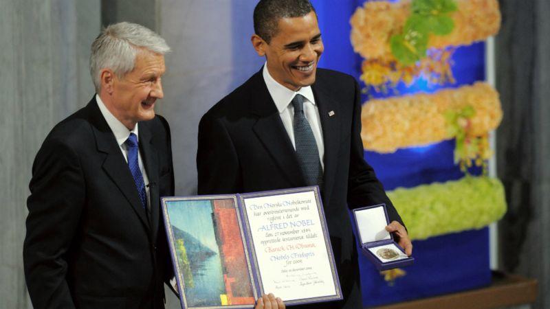 Вручение Нобелевской премии Бараку Обаме. Фото — AFP.
