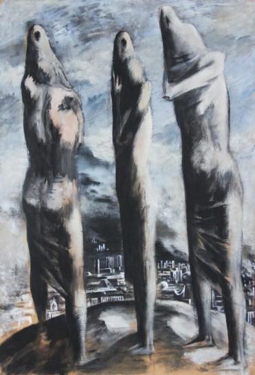 «Женщины над городом». Евгений Лысик. 1960-е.