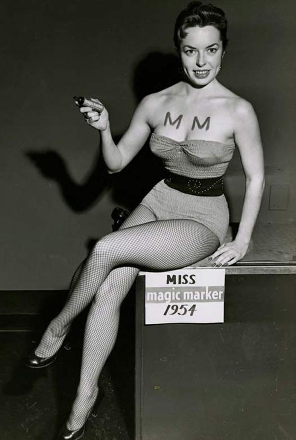 Мисс Волшебный маркер, 1954 год.