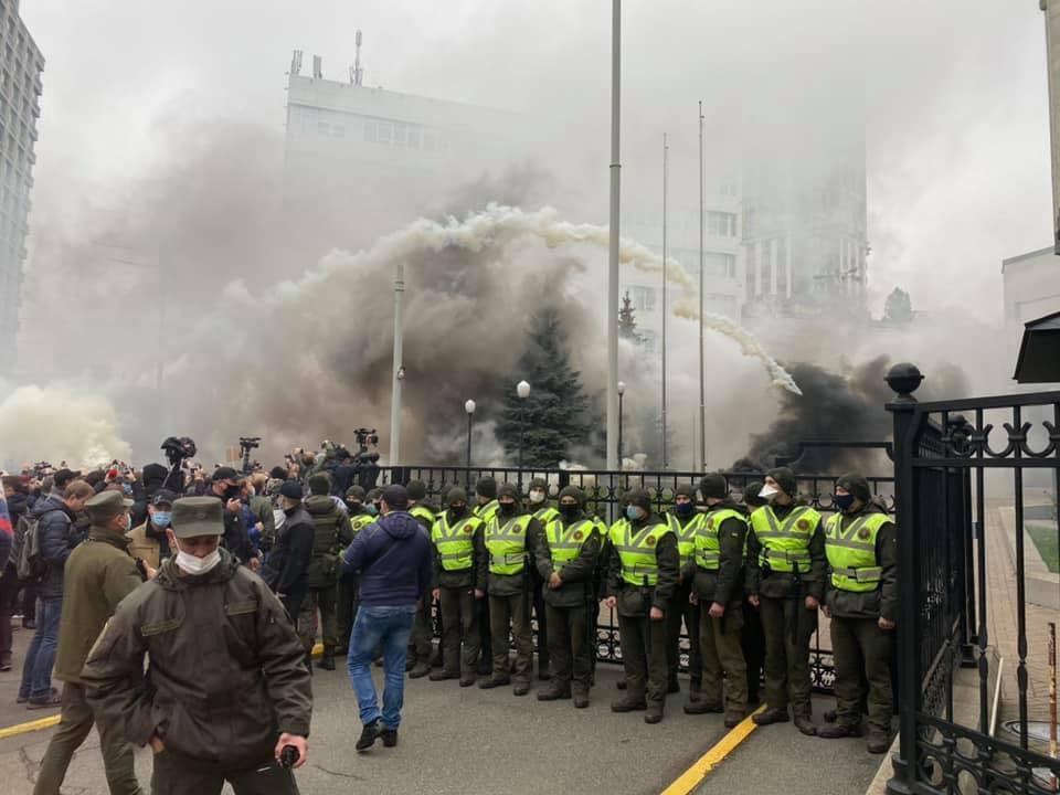 Снимок дня. Акция протеста под Конституционным судом Украины