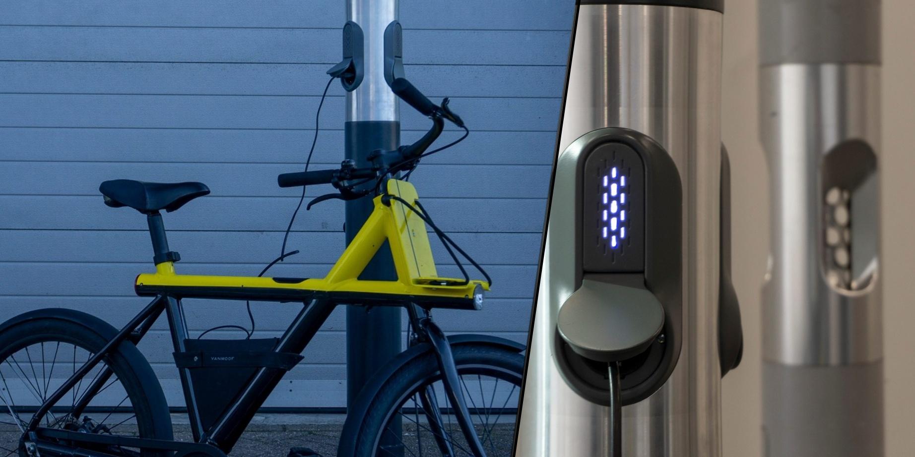В Нидерландах уличные пепельницы превращаются в велосипедные зарядки