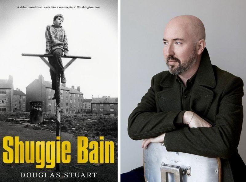 Обложка романа Shuggie Bain и Дуглас Стюарт. Фото — Booker Prize.