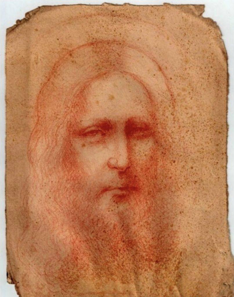 Рисунок Иисуса, обнаруженный Анналисой Ди Мария. Фото — Международный комитет Леонардо да Винчи.