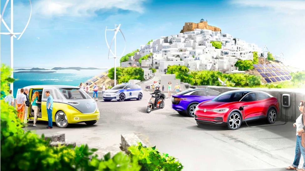 Греческий остров заменит все свои средства передвижения на электротранспорт