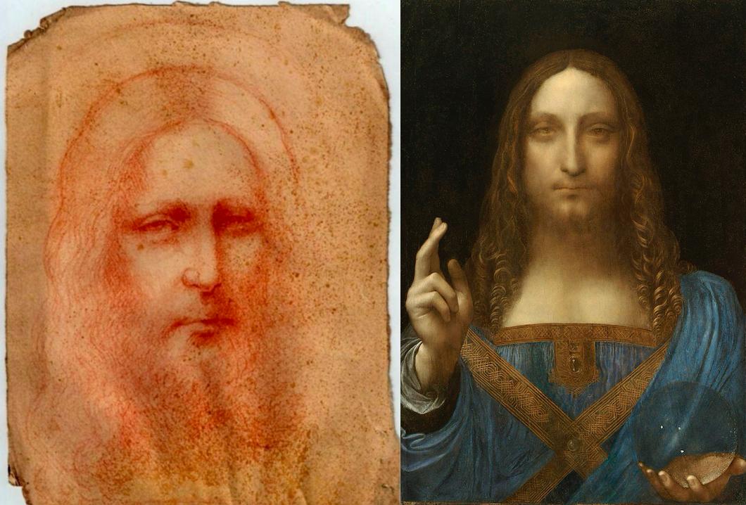 Недавно обнаруженный рисунок снова вызвал сомнения в подлинности «Спасителя мира» Леонардо да Винчи