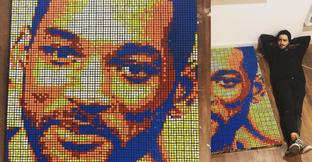 Instagram дня. Итальянский художник выкладывает картины из кубиков Рубика